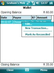 Track your spending across an account